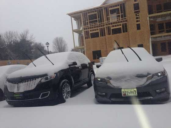 Cars at New Garden Square in Greensboro, N.C.