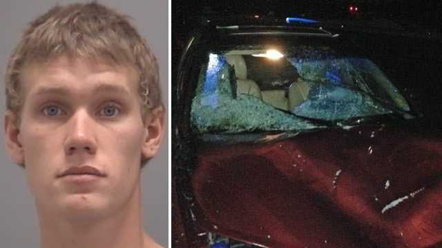 Left: Marshall Doran. Right: Hit and run suspect vehicle.