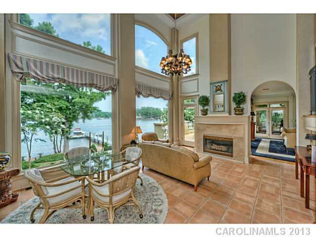 Great Room with lake views