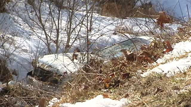 Car in Surry County creek