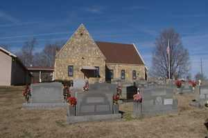 Brown Mountain is a small area in the western part of the county and is home to Nancy Reynolds Elementary School. It's also home to Brown Mountain Baptist Church, made entirely out of local rock.