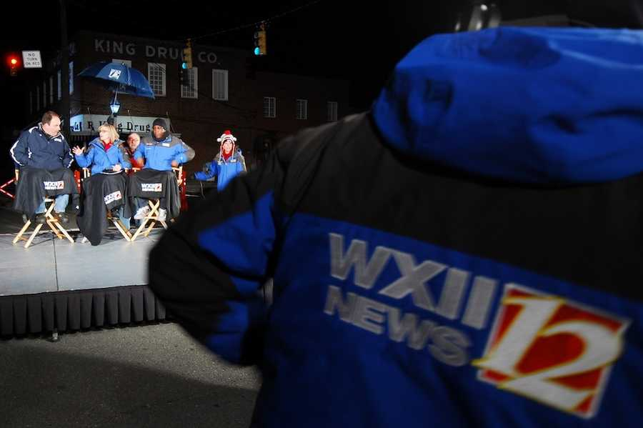 """WXII Celebrates"" is in Stokes County today! Check out these behind-the-scene photos by WXII's Neil Stanfield! #celebratestokes"