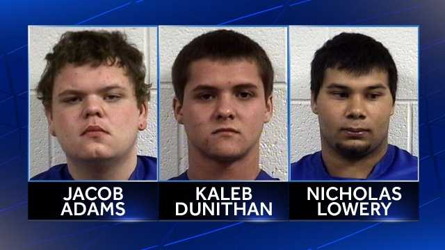 Jacob Adams, Kaleb Dunithan, Nicholas Lowery