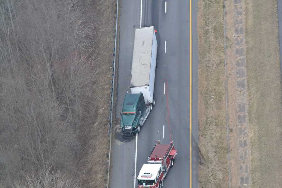 Lanes reopened in Yadkin County by about 2:45 p.m.