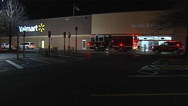 Fire at Walmart on Kester Mill Road