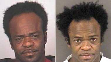 Jerome Brockington arrest photos in 2010, left, and 2008, right