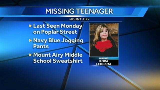 Mount Airy missing girl image