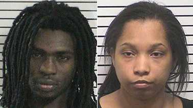 Brandon Adams, left, and Kayla Daye, right