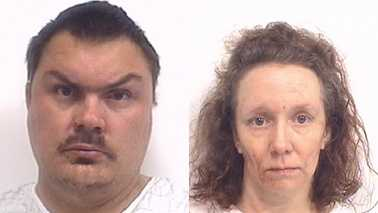 Michael Howington, left, and Tabatha Riggs, right