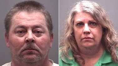 Roy Groce Jr., left, and Leanne Groce, right