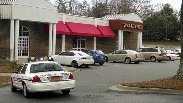 A robbery was reported at a Wells Fargo near the WXII studios Tuesday.