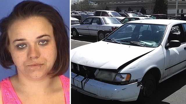 Left: Stormie Vancil. Right: Car involved in collision.