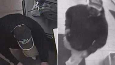 Surveillance image of Walmart money bag theft suspect