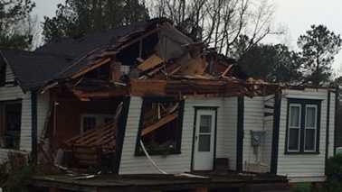 Eastern North Carolina storm damage