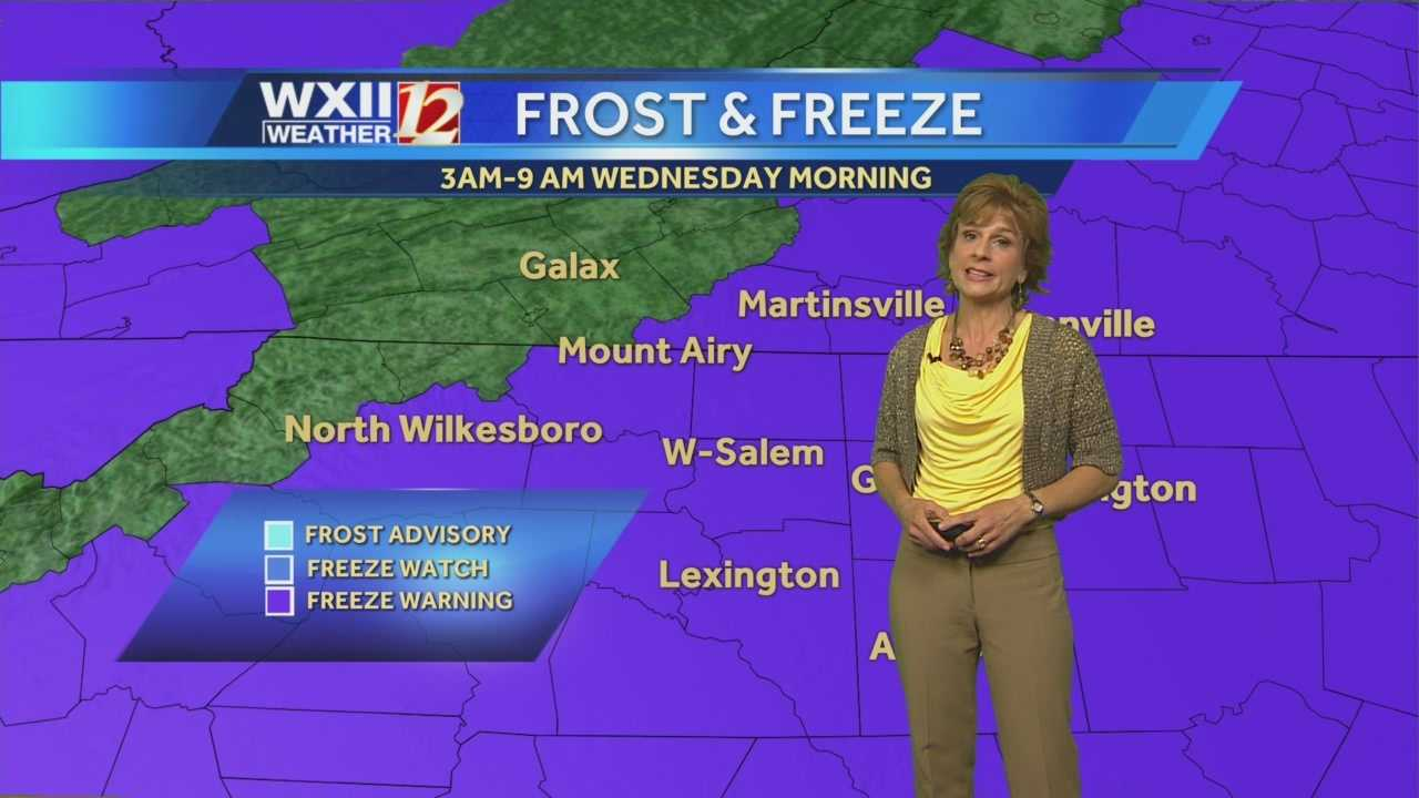 Weeks after the start of spring, wintry temperatures make a comeback to the Triad. Lanie Pope details the forecast.