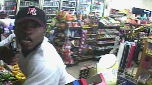 Surveillance image of Winston-Salem armed robbery suspect