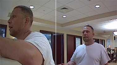 Surveillance image of Greensboro bank robbery