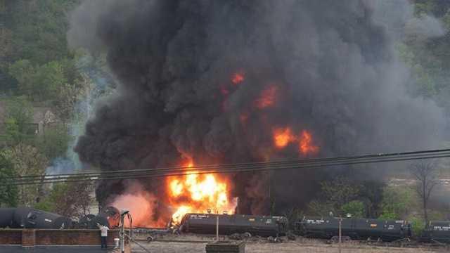 Train derailment in Lynchburg