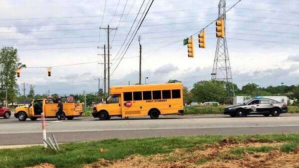 Authorities are investigating an accident involving a school bus in Greensboro.