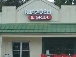 The next stop is T J's Deli, located on Country Club Road in Winston-Salem
