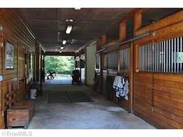Six stall stable with wash bay