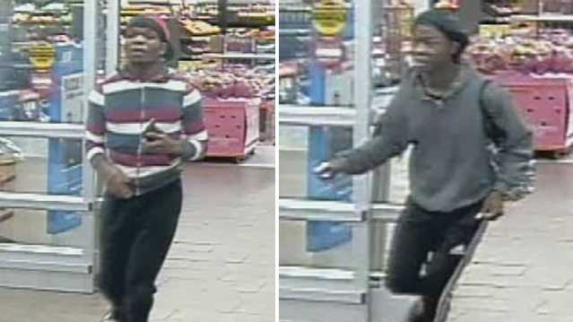 Surveillance images of Walmart cell phone theft suspects