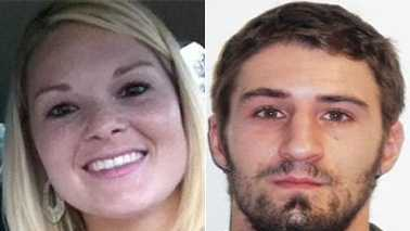 Pfc. Kelli Bordeaux, left, and Nicholas Holbert, right