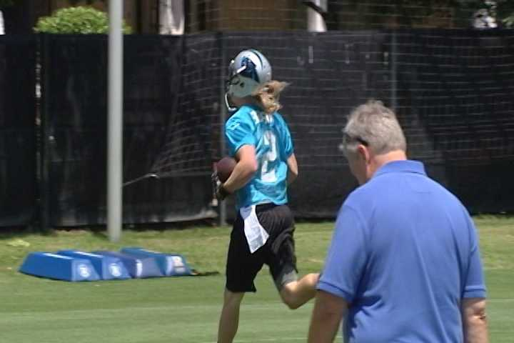 Carolina Panthers Rookie Minicamp in Charlotte - Wofford's Brenton Bersin