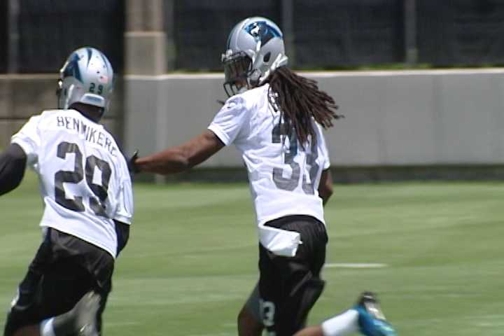 Carolina Panthers Rookie Minicamp in Charlotte: #29 CB Bene Benwikere & #33 S Tre Boston
