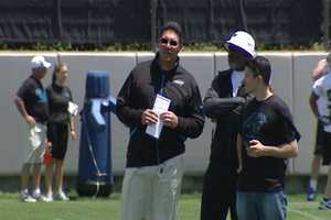 Carolina Panthers Rookie Minicamp in Charlotte - Head Coach, 'Riverboat' Ron Rivera