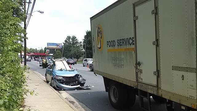 Crash on Battleground Avenue in Winston-Salem