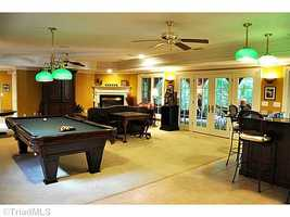 Rec Room with Billiard Area