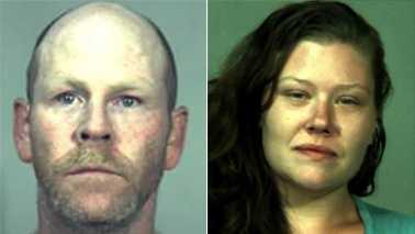 Daniel Shinault, left, and Trisha Wheeler, right
