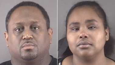 Angelo Ford, left, and Candice Johnson, right