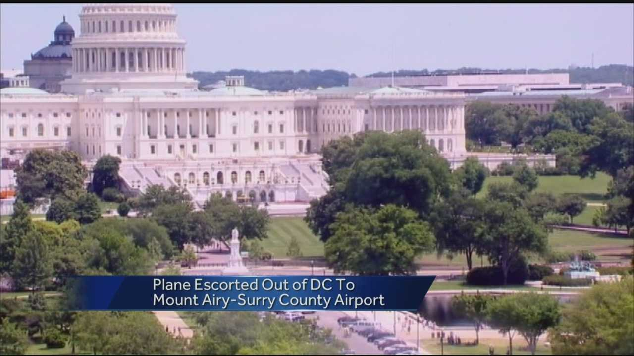Plane forced to land in Surry county after Capitol airspace violation