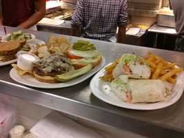 Check out the wraps and burgers !