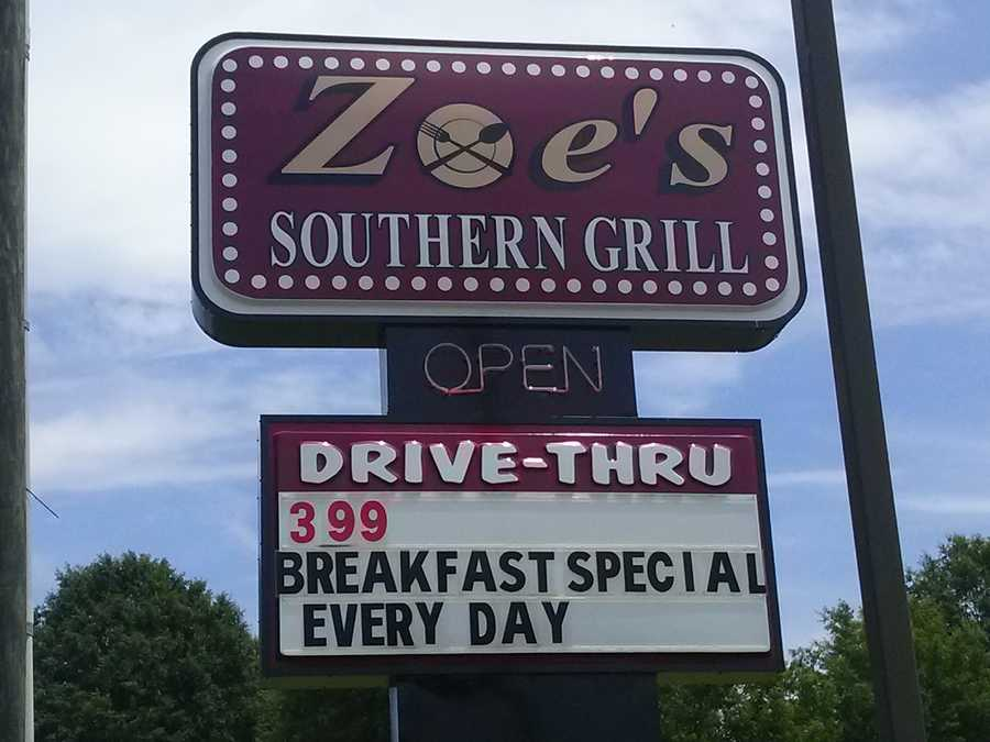 This week I went to Zoe's. She used to be in Kernersville , but now on Hwy 150 in Northern Davidson County.