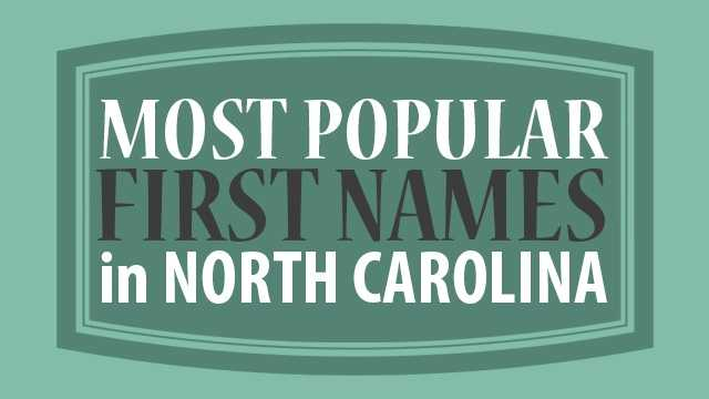 Is your name a popular choice among NC parents? Find out which names are the top 20 most popular names amongst Tar Heel residents. (From WhitePages.com)