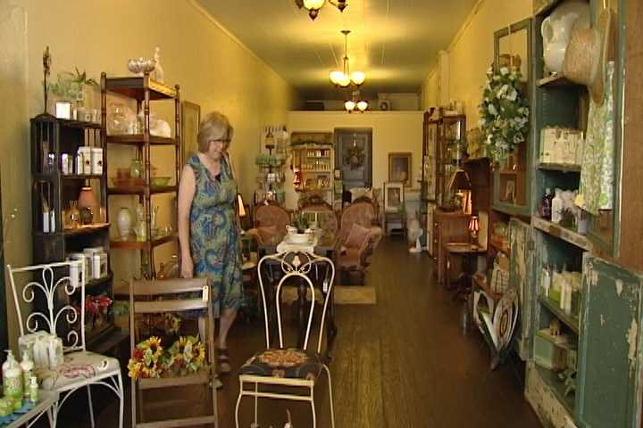 8. Nest and Hive Shoppe is run by a mother and daughter from Yadkinville and opened about two months ago. It's filled with furniture, antiques and other treasures.