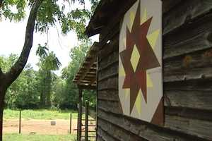 9. The Yadkin County Quilt Trail includes paintings, most of them 8 square feet, on the sides of barns.