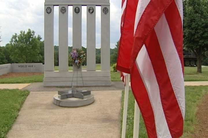 11. Here is an image of the Veterans Memorial in Yadkin County.