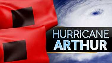 Hurricane Arthur graphic WXII