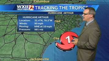 The start of Fourth of July vacations could be interrupted on the North Carolina coast as the approaching Hurricane Arthur led to some evacuation orders. Use these images to track the storm.