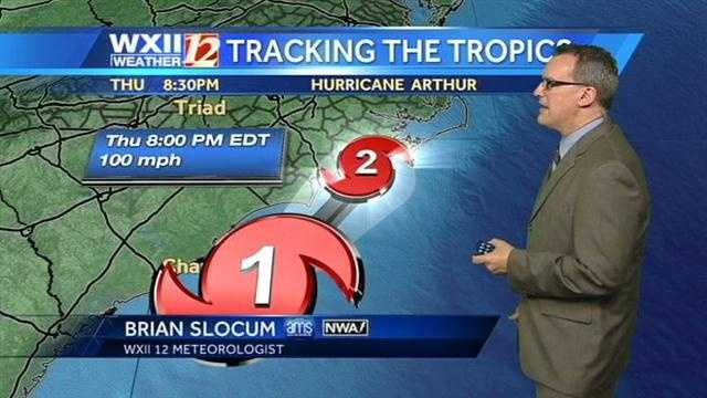 The storm could reach Category 2 status, according to WXII meteorologist Brian Slocum.