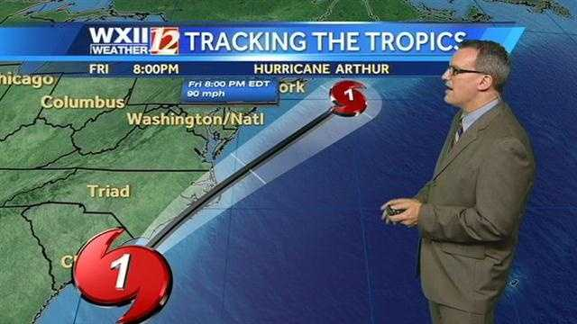 The storm is expected to quickly move off the coast by Friday afternoon.