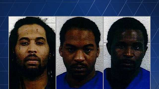 From left to right: Travon Taylor, Gerald Sincere Uniqu Graves, and Larry Alexander Settle Jr.