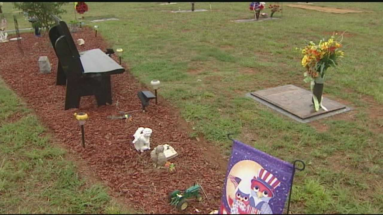 WXII 12's David Jeannot has the story of decorations stolen from a child's memorial at Alamance Memorial Park.