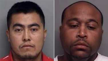 Jonathan Rivera-Olveram, left, and James Travis Moore, right