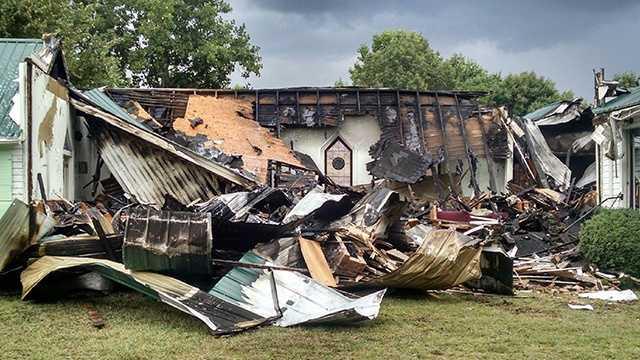 Fire at Ararat Missionairy Baptist Church