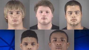 Top row L-R: Tristan Hill, Travis Mays and Christopher Reid. Bottom row L-R: Gevontae Morrison and Ariel Williams.